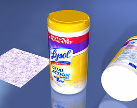 3D model Disinfecting Wet Wipes