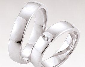 3D printable model Wedding rings 215
