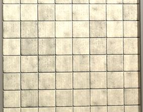 3D model Tillable Wall Tiles Texture architectural
