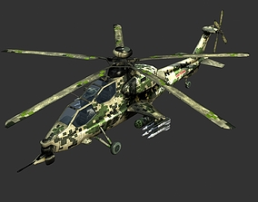 China PLA Army WZ-10 Attack helicopter 3D asset