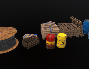 Industry Props Pack Game Ready 3D