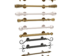 Curtain Rod Collection 3D model