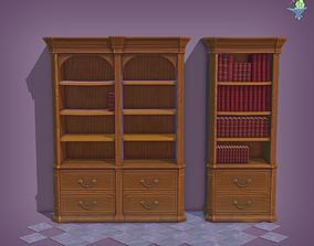 3D asset Bookshelf Classic