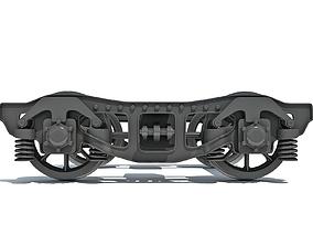 3D model Train Bogie Wheels