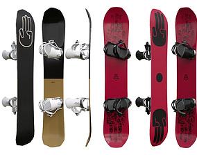 Snowboards 3D model