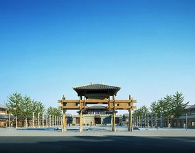 China ancient torii and city 01 3D