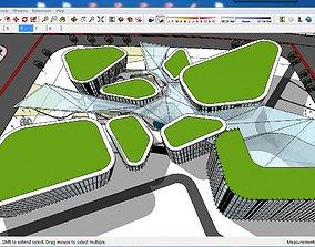 Sketchup Cultural center F1 3D model