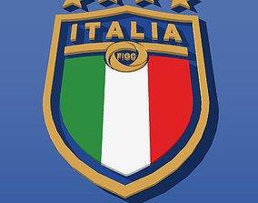 3D model 2017 Logo for Italian soccer team