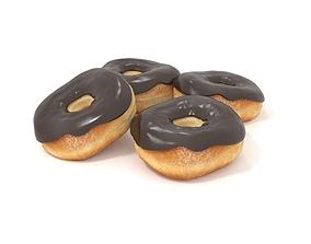 Donuts 3D model bread