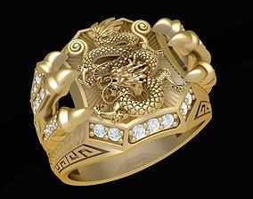 1911 Dragon Claw Ring 3D print model