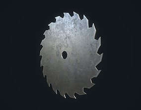 3D asset game-ready Saw Blade