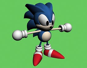 Sonic 3D asset rigged