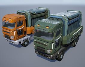 Sci-Fi Truck - game model 3D asset