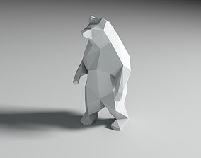 low poly 3d model bear