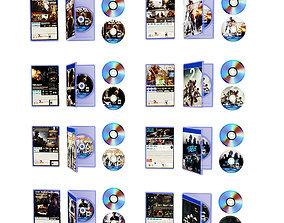 Disk DVD Pak 3D asset game-ready
