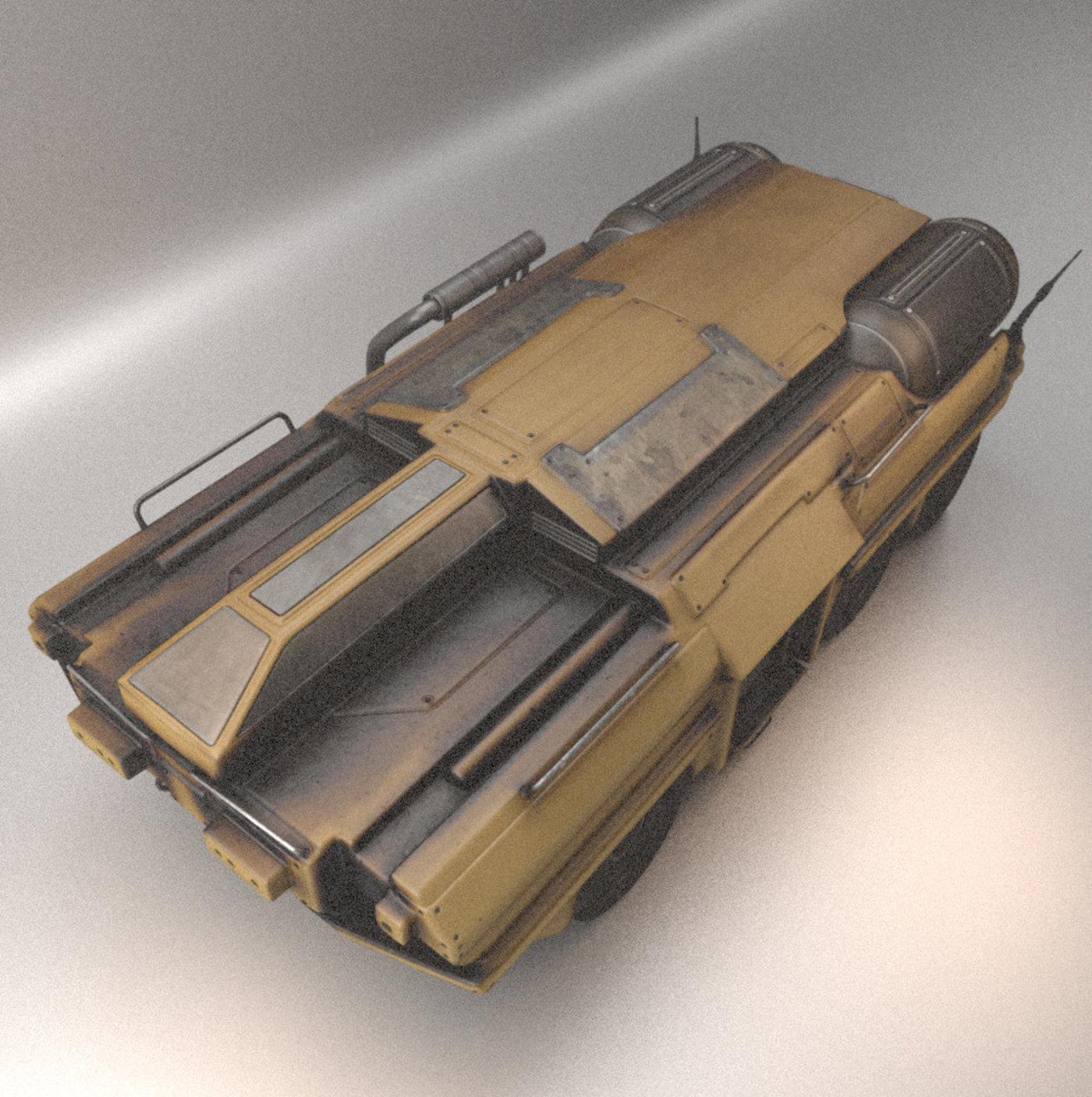 Six Wheeled Amphibious Tank Design