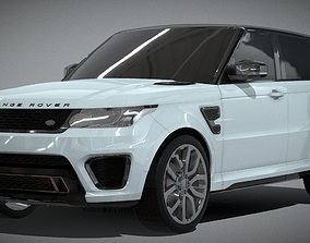 Range Rover Sport SVR Luxury SUV 3D Model realtime