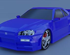 3D asset Nissan Skyline R34