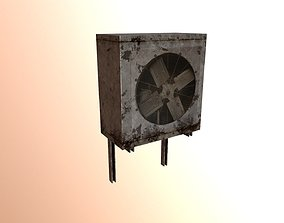 3D model game-ready Low Poly Air Conditioner
