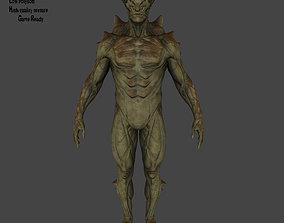 3D asset VR / AR ready monster lava