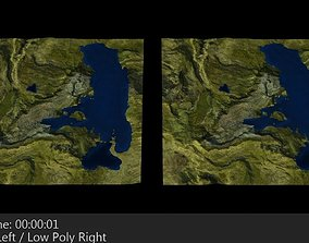 3D asset Terrain 3 Mountains and Lake