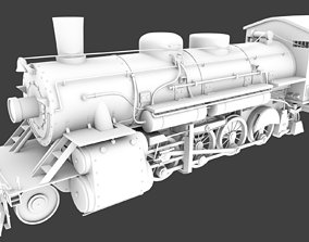 3D Steam Train Model Only