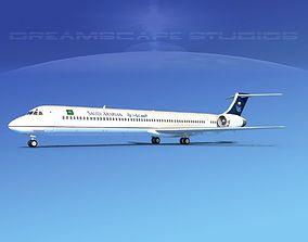3D McDonnell Douglas MD-90 Saudi Arabian