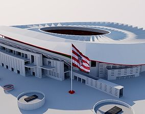 3D model Wanda Metropolitano - Madrid Spain