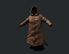 3D model game-ready leather cloak