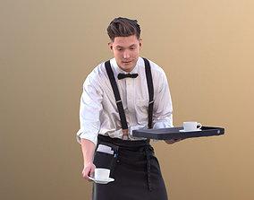 Dan 10488 - Working Waiter 3D model VR / AR ready