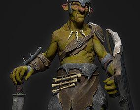 Goblin Fighter 3D asset
