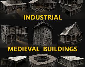 3D model MEDIEVAL INDUSTRAIL FANTASY TOWN VILLAGE 1