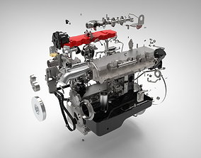 3D model Engine internal combustion engine mechanical 1