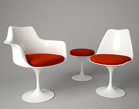 Tulip Chair and Armchair 3D