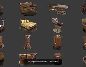 Vintage Furniture Set 3D