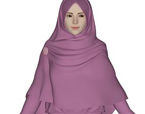 3D Hijab Model 1