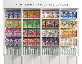 cereal shelf 3D model