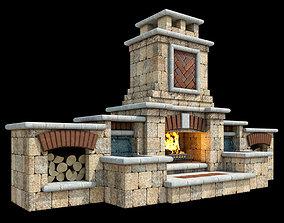 Outdoor Fireplace 006 3D