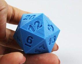 3D model 20 faces dice