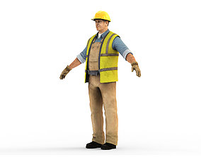 Worker CATRig Pose A 3D model