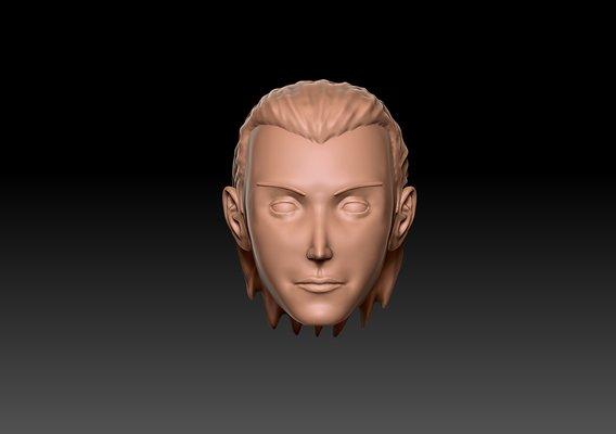 Hidan from Naruto Head Sculpt