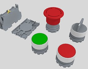 electronics Push buttons 3D