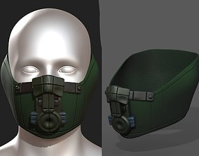 Gas mask fabric futuristic protection isolated 3D model
