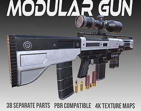Modular Gun PBR Vol 1 3D asset
