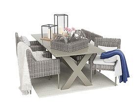 3D model Outdoor furnitures 01