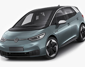 VW ID3 2020 3D model electric