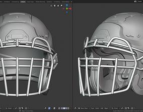 3D printable model Football Helmet Schutt F7