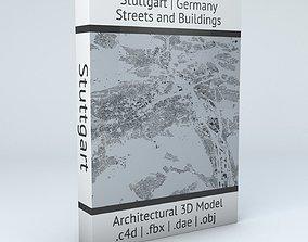 street Stuttgart Streets and Buildings 3D model