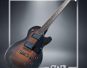3D rigged Gibson Les Paul Guitar
