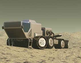 3D rigged Mars Rover